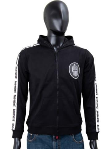 Fortnite Hoodie Logo black+wh. stripe 152cm