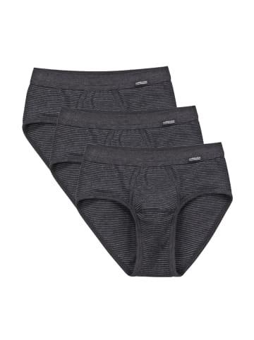 Ammann Slip Unterhose mit Eingriff 3er Pack Jeans in Anthrazit