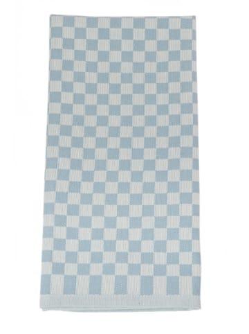 """Framsohn 4er Set: Geschirrtuch """"Karo"""" in Blau - (L) 75 x (B) 50 cm"""