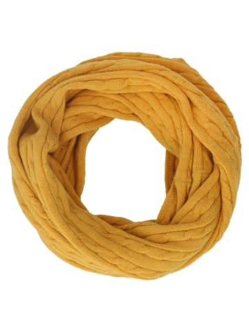 Six Senffarbender Loop-Schal in gelb