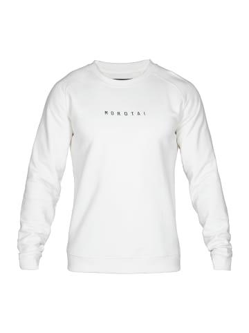 MOROTAI Pullover Logo Basic Sweatshirt in Cremeweiß