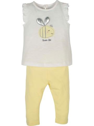 Mamino Kindermode Baby Mädchen Set 2 tlg. -Queen Bee in gelb