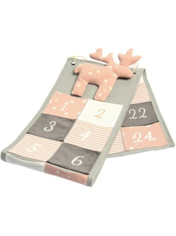 Hotex Adventskalender Elch rosa/grau