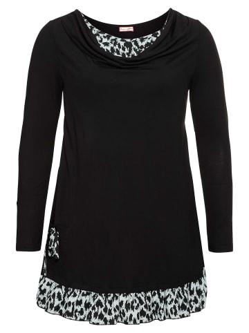 Sheego by Joe Browns Longshirt in schwarz-grau