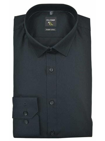 OLYMP  Langarm Business Hemd in schwarz