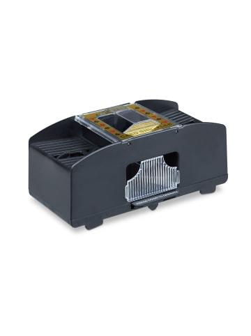 Relaxdays Kartenmischmaschine 2 Decks in Schwarz