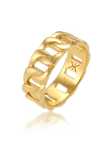 KUZZOI Ring 925 Sterling Silber Bandring in Gold
