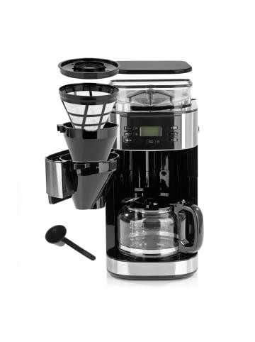 Barista Kaffeemaschine mit Mahlwerk in Edelstahl/Schwarz - 900W