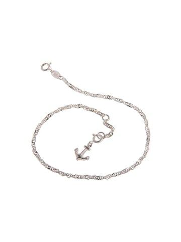 """SILBERKETTEN-STORE 925 Silber Fußkette mit Anhänger """"Anker"""""""