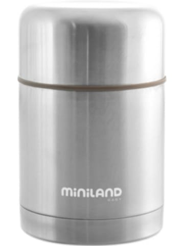 Miniland Thermobehälter Silky Thermo Food, 600ml, silber