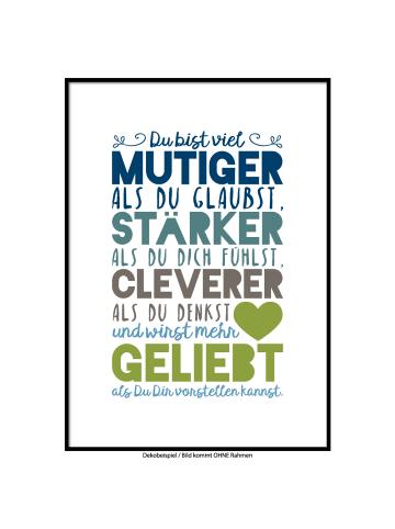 """SMART ART Kunstdrucke Kunstdruck / Poster """"Du wirst geliebt"""" Farbversion acht / A4 oder A3"""