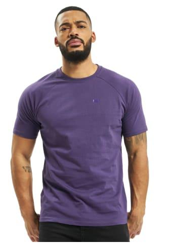 DEF Kai T-Shirt Rundhals Brandlogo-Print locker in Violett