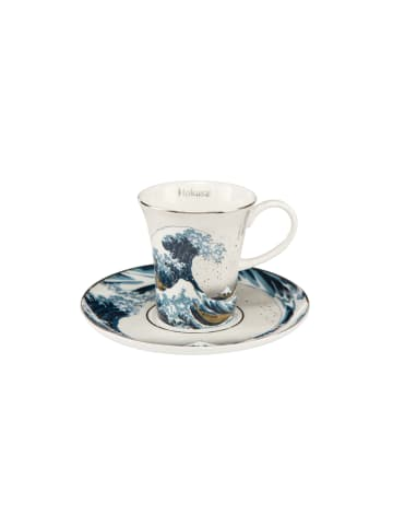"""Goebel Espressotasse """" Katsushika Hokusai - Die Welle - Silber """" in bunt"""