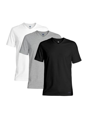 Ted Baker T-Shirt 3er-Pack V-Neck in mehrfarbig