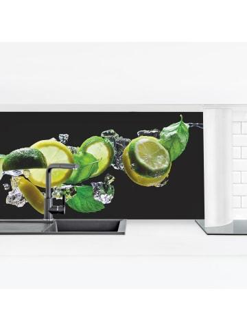 Bilderwelten  Küchenrückwand - Mojito Zutaten in Schwarz