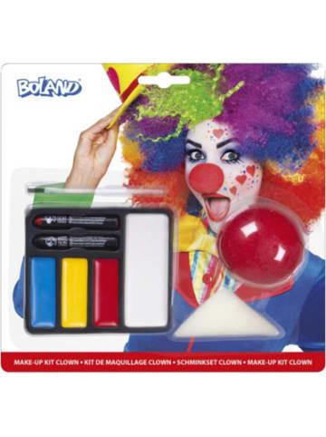 Boland Schminkset Clown (Clownnase, Schminkfarben, Schwamm, und Pinsel)