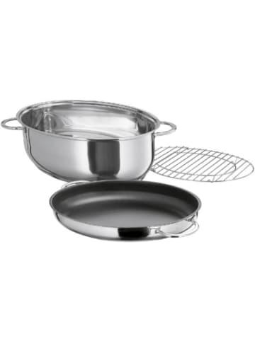 """Küchenprofi Edelstahl Multibräter """"Cook"""", oval, 40,5x28,5x18,5 cm"""