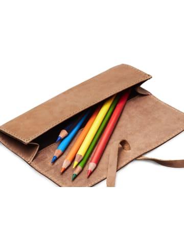 Packenger Schlampermäppchen Pencil Case Lambi in Hellbraun