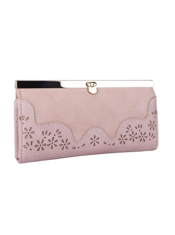 Six Portemonnaie in rosafarben