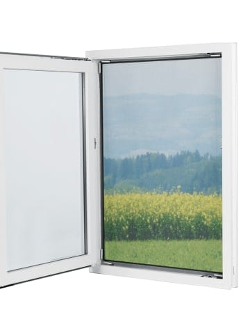 EASYmaxx Fenster-Moskitonetz in Schwarz