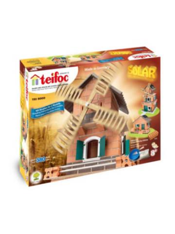 Teifoc Steinbaukasten Solar-Haus-Windmühle 380 Teile