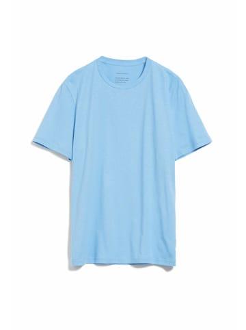 Armedangels Rundhals T-Shirt in blau