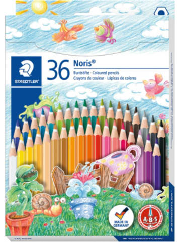 Staedtler Noris Buntstifte, 6-Kant, 36 Farben