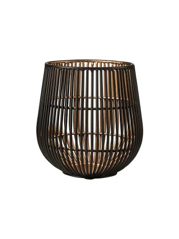 Butlers Teelichthalter Höhe 13cm YOKO in schwarz und gold