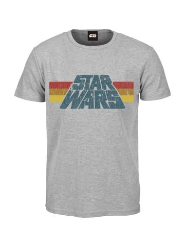 Star Wars T-Shirt Vintage 77 in grau meliert