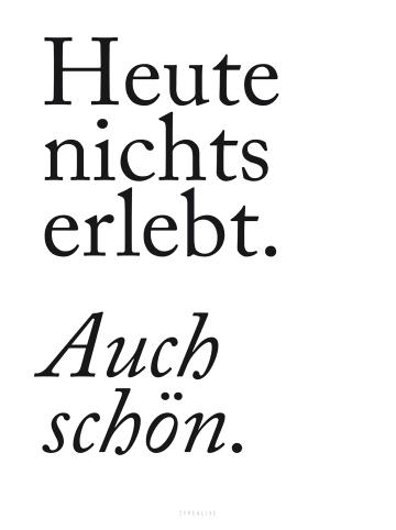 """Typealive Print """"Auch Schön"""" / A3 bis 60 x 90 cm"""