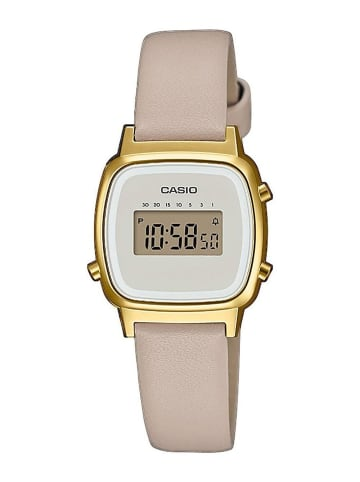 Casio Vintage Mini Digital-Armbanduhr für Damen Beige/Gold