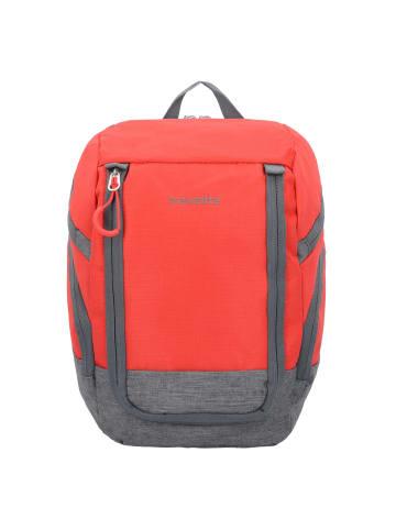 Travelite Basics Rucksack 36 cm in rot grau