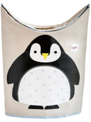 3 Sprouts Wäschekorb Pinguin, 59 x 48 cm