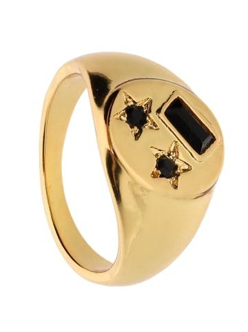 Six Ring vergoldet in goldfarben