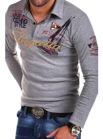 Behype Poloshirt REGATTA in grau