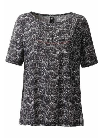 ViertelMond T-Shirt Resa in grau/weiß