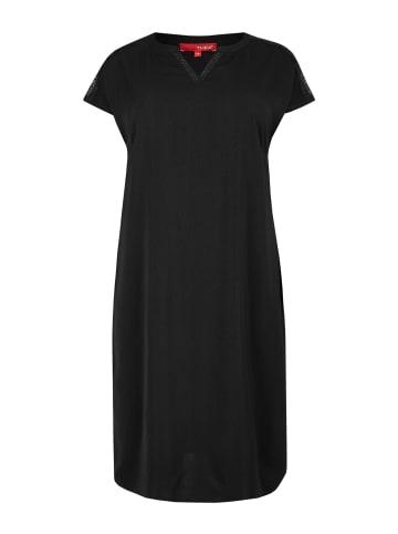 THEA Jerseykleid in schwarz
