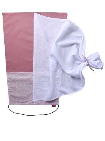 Levily - Manufaktur babyfroh  Sonnensegel Sonnenschutz Canvas in Altrosa/Muster