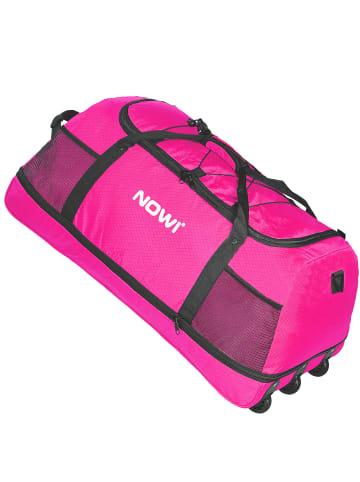Nowi XXL Riesen Reisetasche mit 3 Rollen Rollenreisetasche 81 cm in pink