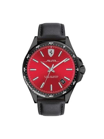 Scuderia Ferrari Analog Uhr 'Pilota' in Rot/Schwarz