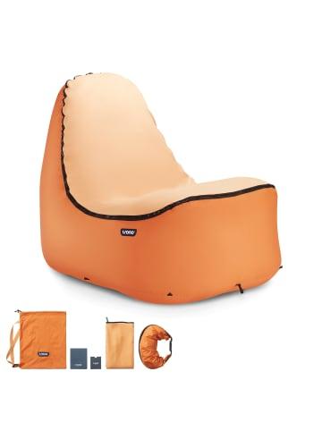 TRONO Campingstuhl Lounge Stuhl in orange