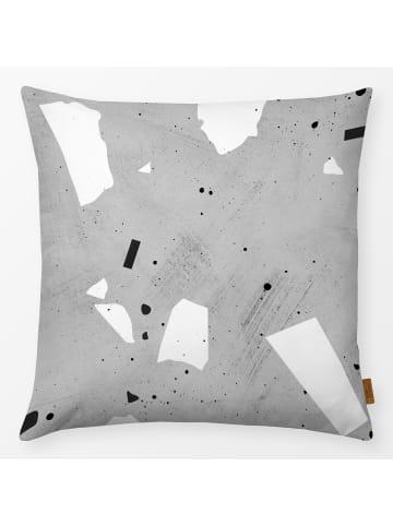"Textilwerk.com Kissen ""Painted Terrazzo 3"" in Grau / Schwarz / Weiss"