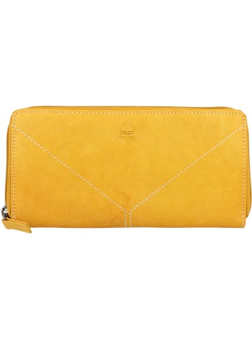 Greenburry Tumble Nappa Geldbörse Leder 20 cm in smoky yellow