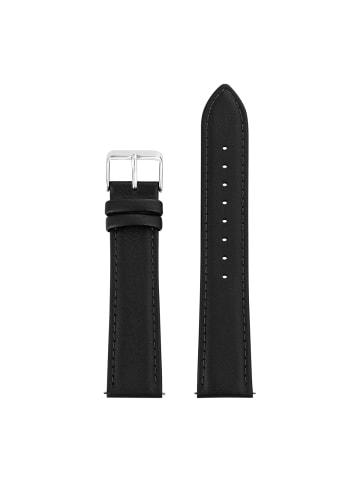 Sterzinger Uhrenarmband Leder in Schwarz in schwarz