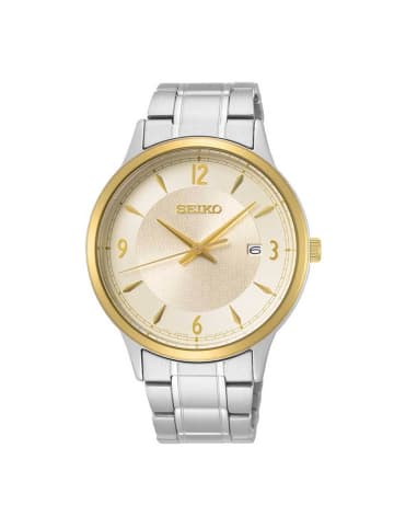 Seiko Analog Uhr 'SGEH5' in Gold/Silber