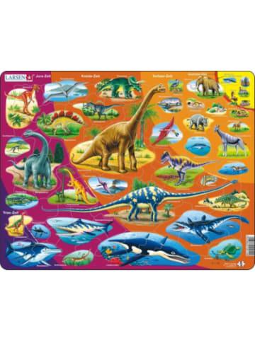 Larsen Rahmen-Puzzle, 85 Teile, 36x28 cm, Dinosaurier