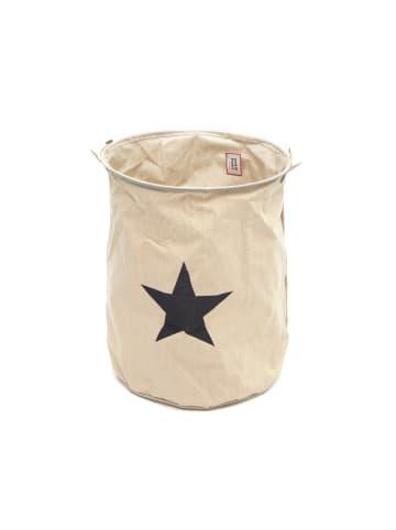 """Pink Papaya Wäschesack """" Pluto Star """" in beige/grau"""