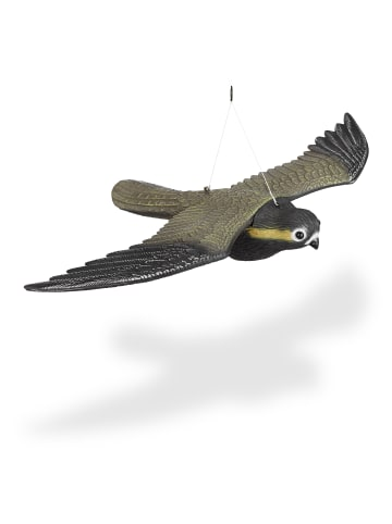 Relaxdays Vogelschreck Falke in Bunt