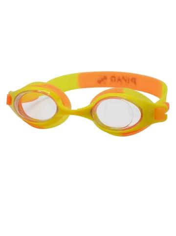 PiNAO Sports Schwimmbrille für Kinder in orange-gelb