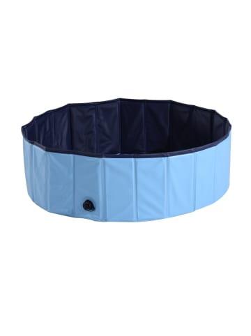 Pawhut Hundebad in Blau